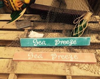 Beach signs. Pool signs Nautical sign! Sea Breeze  distressed wooden sign. Pool decor. Beach decor. Rustic beach decor. Rustic pool decor