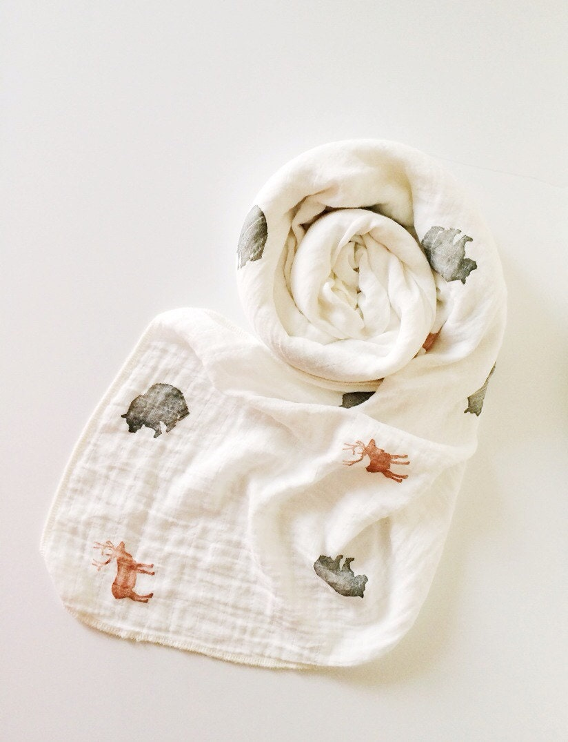 Organic Muslin Swaddle Blanket Organic Cotton And Bamboo