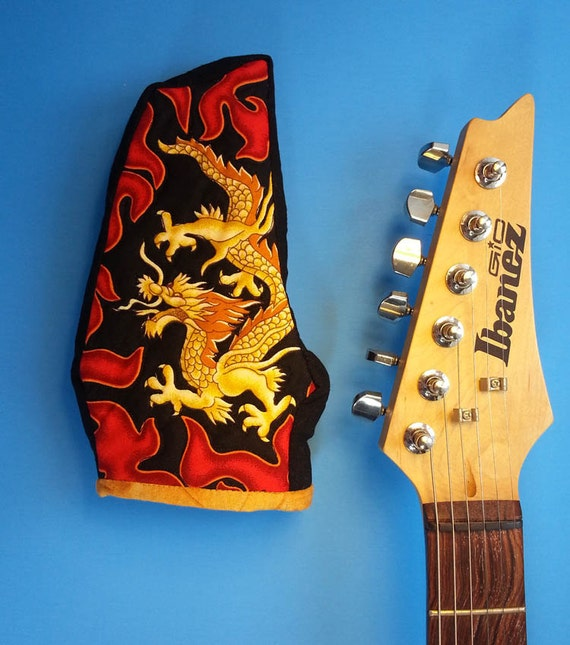 fender ibanez electric guitar headstock cover with golden. Black Bedroom Furniture Sets. Home Design Ideas