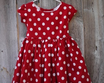 Custom Minnie Mouse Inspired Dress