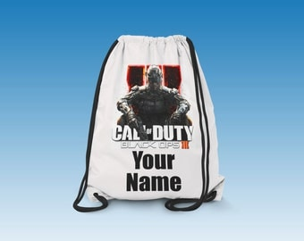Call Of Duty Black Ops 3 Personalised Gym Bag School,Dance,Swim,PE