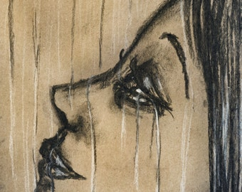 Energy Flowing, Tears, Eye Art Print