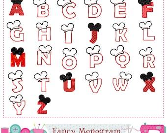 Z Alphabet Designs mickey alphabet – Etsy FR