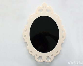 Modern Rococo Beige Photo Frame - Oval Baroque Picture Frame