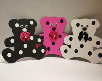 9 Teddy Bear Die Cuts-Scrapbooking, Teddy Bears, Die Cut Bear, Embellishments, Baby Showers-DCTB3-28