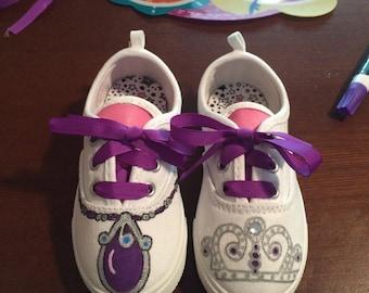 Custom sofia the first shoes