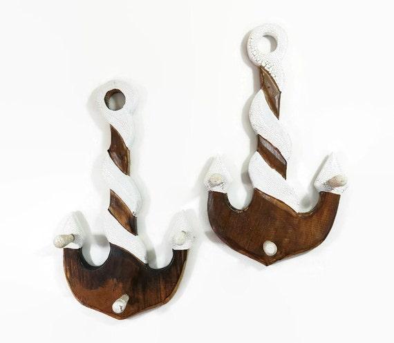 Items Similar To Anchor Hook Wood Hook Wall Hooks