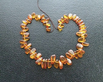 "16"" Baltic Amber Fancy Drop Beads"