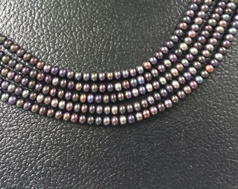 """Full 16"""" Strand Peacock Button Freshwater Pearls – 6mm x 4mm"""