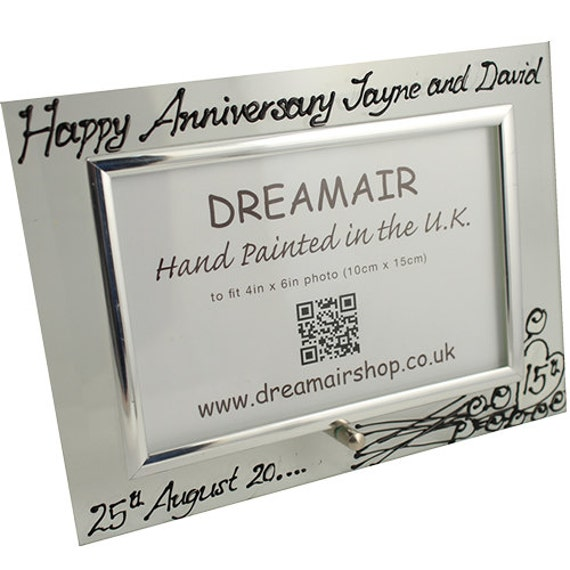 15th Wedding Anniversary Gift Ideas Uk : PERSONALISED 15th (Crystal) Wedding Anniversary Gifts Flower Design ...