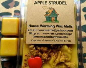 Wax Melt-Apple Strudel-Bakery Scent-soy melt, wax tart, clamshell packaging