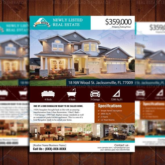 custom flyer design new listed realtor by creativeetsydesigns. Black Bedroom Furniture Sets. Home Design Ideas