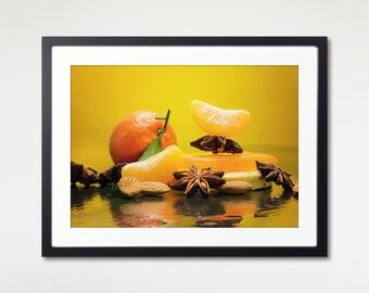 Winter Spa Print Framed, Concept Photography, Art Print With Frame, Spa Decor, Wall Art Print, Matting Frame