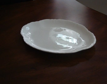Homer Laughlin Antique REPUBLIC Shape and Pattern Ironstone Platter!