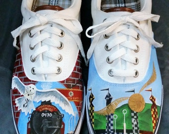 Custom Painted Harry Potter Inspired Shoes