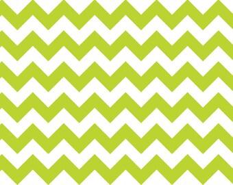 Lime Green Chevron Knit, by Riley Blake Designers, 1 yd