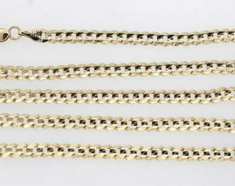 "Mens 14K Yellow Gold Curb Chain 14.3 Grams 19"" 4mm"
