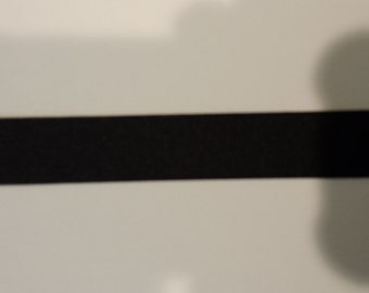 "22MM 7/8"" Solid Black Grosgrain Ribbon"
