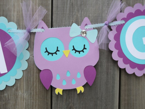 purple and teal baby shower decorations it 39 s a girl owl banner baby