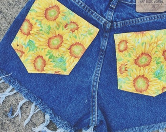 Sunflower High Waisted Shorts