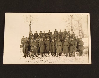 Photographic Postcard of Soldiers World War 1