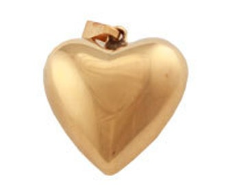 23mm Puffed Heart Pendant (12 pcs)