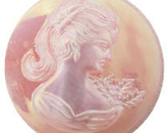 18mm Cameo - Angel Skin AB (12pcs)