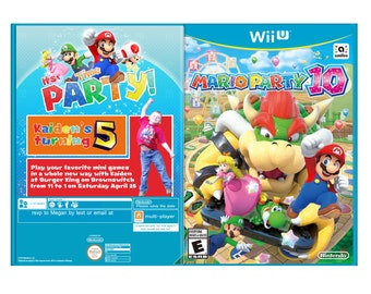 Mario Party 10 Party Invitation***DIGITAL FILE***