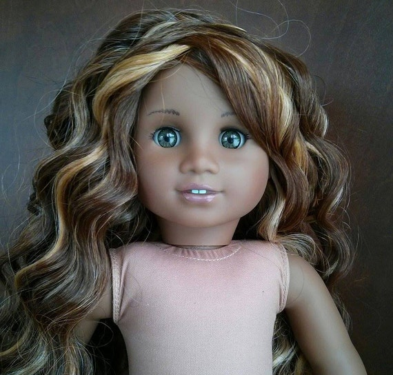 Custom American girl doll wig