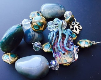 SALE  Octopus Necklace