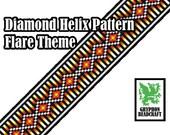 Loom Beading Pattern - Diamond Helix (Flare Theme)