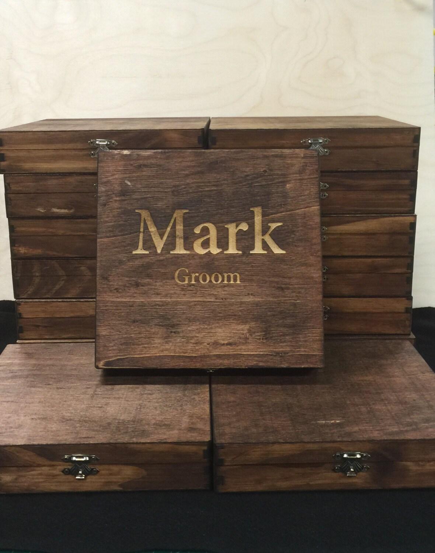 Custom Cigar Box Groomsmen Best Man By Engravemymemories