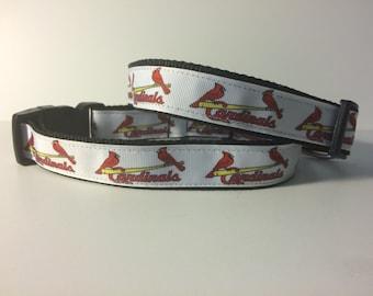 DOG COLLAR!! St Louis Cardinals - white
