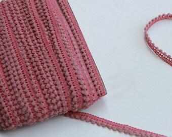 1 yard or more Rosy Mauve mini pom pom trim - Rosy Mauve trim - Rosy Mauve pom pom sewing notion
