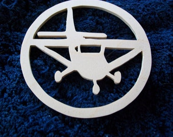 Hand Made Wooden Air Plane ornament