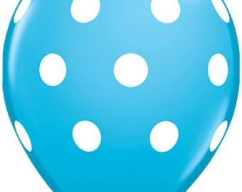 25 pcs blue polka dot balloon Latex balloons round  big balloon birthday decor photo prop party supplies balloons