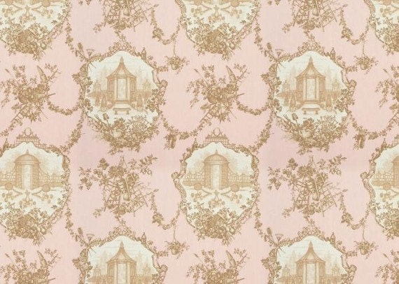 garden toile old rose by braemore fabric by the yard. Black Bedroom Furniture Sets. Home Design Ideas