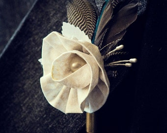 Ruffled Rose Boutonniere