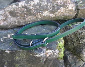 "Handmade Leather Training Lead, 6ft 4"" Overall Length, 1/2"", 5/8"", 3/4"" and 1"" Widths"