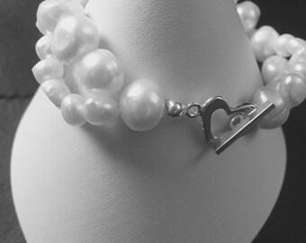 Wave Pearl Bracelet