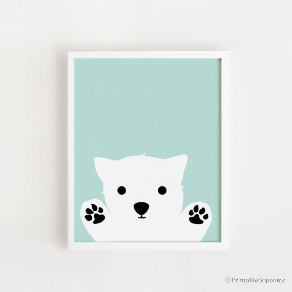 printable dog art poster bebe instant download boys room