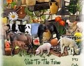 Visit To The Farm Digital Scrapbooking Kit