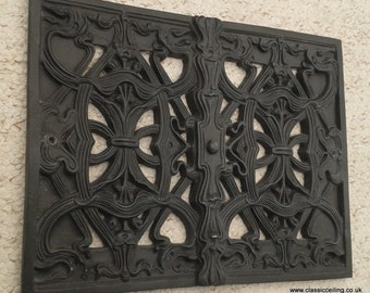 "Victorian air vent cover 11 X 8.5"" interior/exterior cast effect or white (nouv"