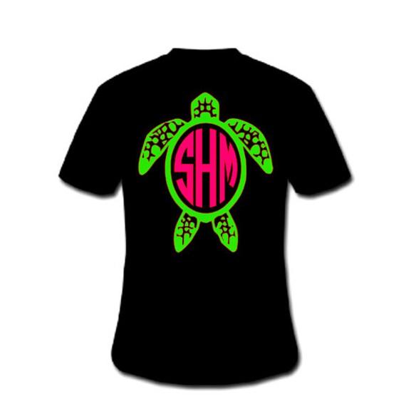 Turtle shirt with monogram sea turtle shirt with monogram for Green turtle t shirts review