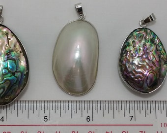 abalone and mother of pearl pendant