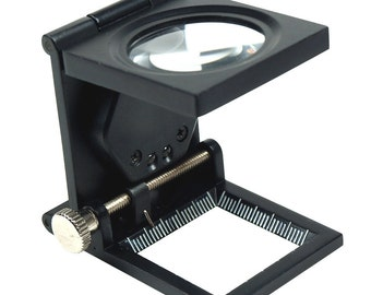 10X 30mm Foldable Lighted Magnifier / Loupe Jewelry Photo Sewing Thread Counte