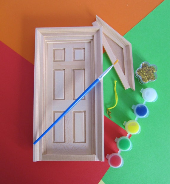 Decorate your own fairy door children 39 s by for Wooden fairy doors to decorate