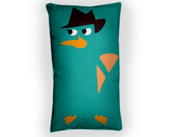 Perry the Platypus - Custom Geek Fabric Cushion Pillow cover Home Decor Thrown Pillow With Inner