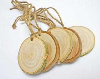 Wooden gift tags - set of five