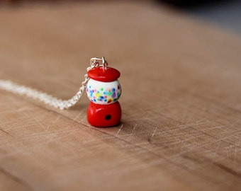 Clay Gumball Machine Necklace